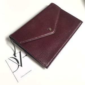 DVF Leather Envelope Clutch